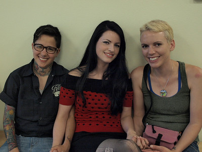 Ren, Rita, and Katie in the waiting room at the SD County Administration Building