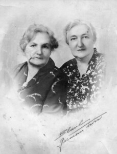 "TPG -11: Emily (Granny) McKeown and her sister  Annie  nee Prescott. The photographer's mark reads ""German town"" in Philidelphia"
