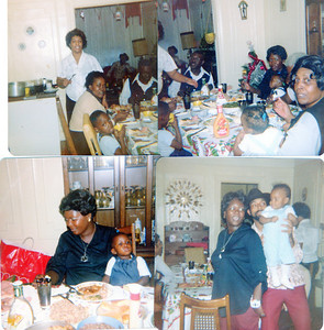 The Buddy Powell Family on Thanksgiving in the 80's at tge Boyd's House
