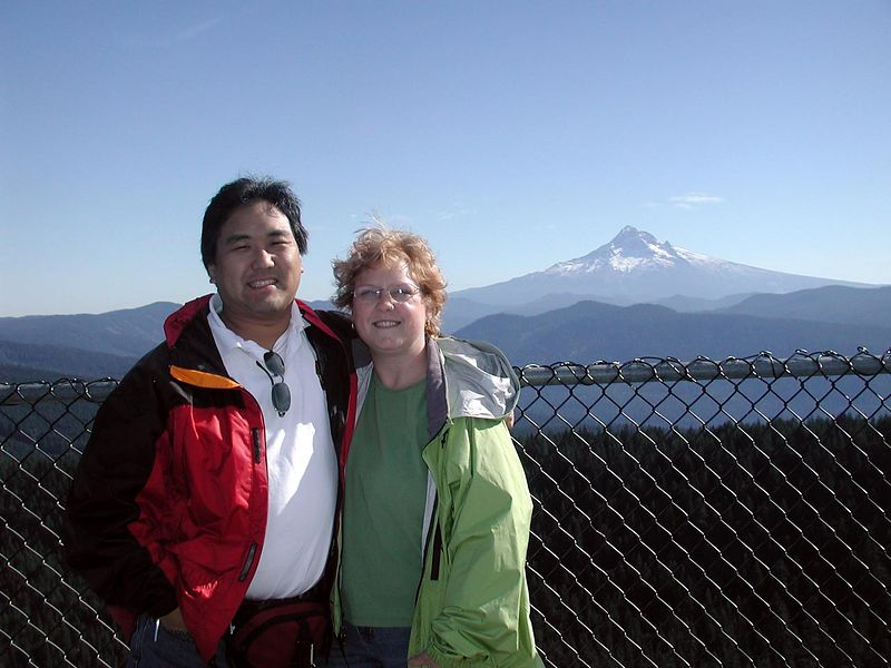 Kent & Margo, with Mount Hood in the background