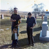 Dick & Pam Hursey, Gilbert<br /> Theophilus Cemetery<br /> 1971