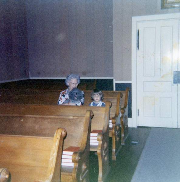 Nellie and Christine in Theophilus Lutheran Church<br /> 1971