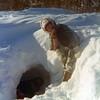 Christine & Seth's snow cave