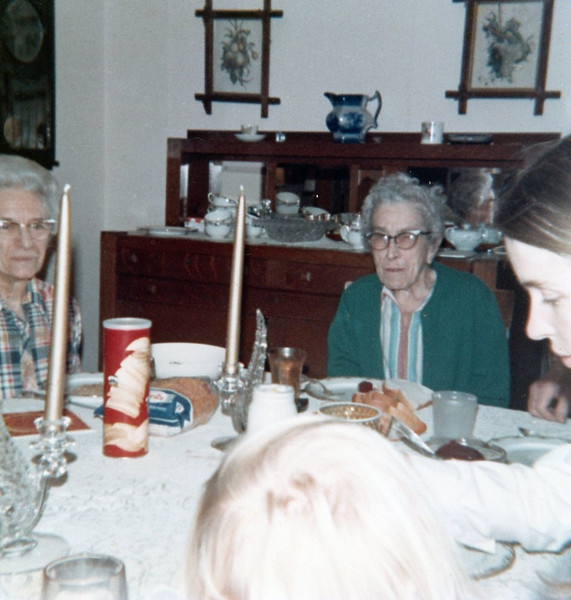 Nellie & Blanche<br /> Thanksgiving at Walt and Nellie's in Galva, Illinois<br /> 1973