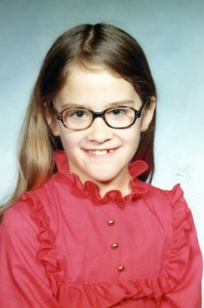 Christine's 3rd grade school picture, 1973-74<br /> District 40<br /> Mrs. Ostendorf