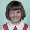 Christine's Kindergarten school picture, 1970-71<br /> District 40 in Wayne County, Nebraska