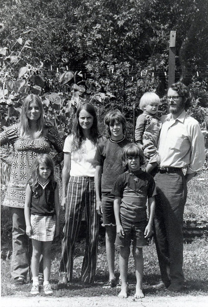 infamous family picture #2<br /> Julie, Bonnie Soren, Seth & Sayre in back<br /> Christine and Eric in front<br /> Boulder, Colorado<br /> 1972
