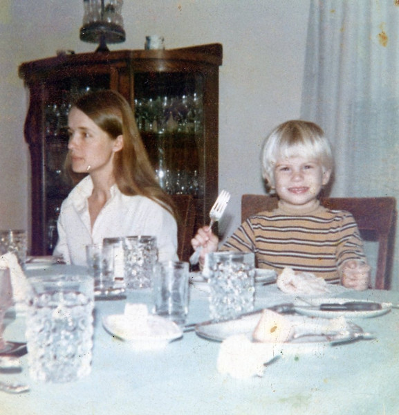 Bonnie & Seth<br /> Thanksgiving at Walt and Nellie's in Galva, Illinois<br /> 1973
