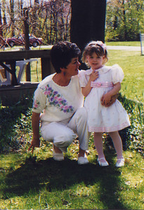DPB-13: Kay Patterson with granddaughter Ophelia Sniffen Easter 1998