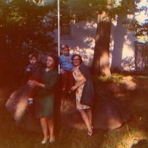 DPB-68: May (Maisie) McKeown and Anne Patterson (nee McKeown) with Bobby Patterson and Billy Patterson in Boonton, USA