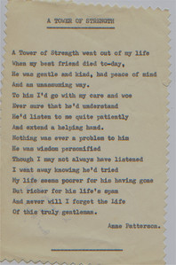 DPB-38: Poem by Anne Patterson (nee McKeown) dedicated to her brother James (Jimmy) McKeown following his death.