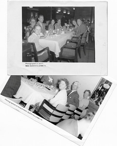 DPB-73: Top:May (Maisie) McKeown second from right 1951 Bottom:Anne Patterson (nee McKeown) right front in 1950