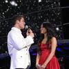 Drew singing away with Vanessa Ann