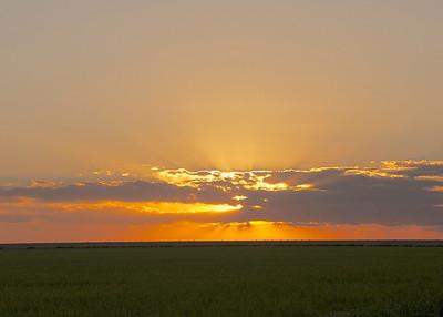 Kansas Sunset...heading for Dodge City