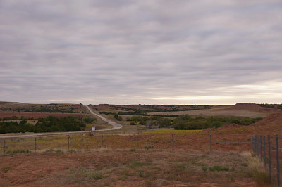 Follow the Medicine River to  Medicine Lodge through the Gypsum Hills to Oklahoma