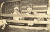 1920 Russell and Margaret in Homemade Playpen