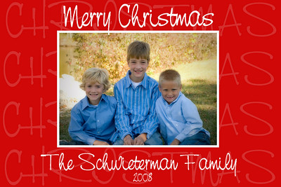 Sample of a Christmas card