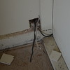 Wire from wall to tie to wire pulled through wall to circuit.