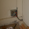 Wires joined. (Black wire is low voltage sprinkler wire. Not in conduit.)