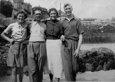 Harold & Connie Webb (grandparents) with Bertha & Derek each side