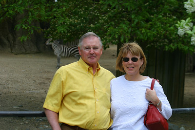 Rich and Christine by the zebras.