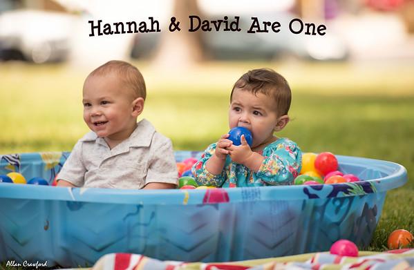 Hannah and David's 1st Birthday