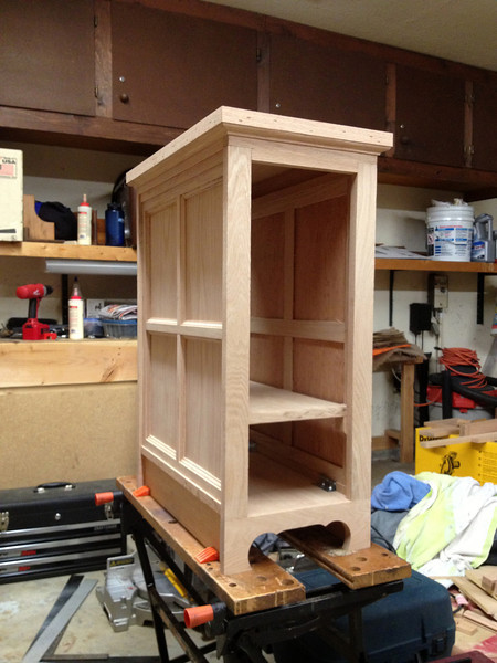The molding added to the top.