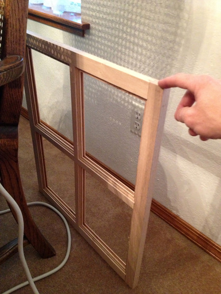 The first, and one of (2) most complex pieces of this cabinet--the panels.