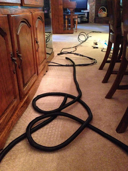 Cable concealment was a huge concern and having the right material to conceal all of the cables was a big plus.
