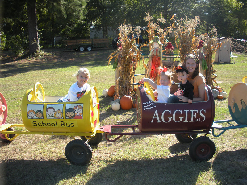 We went to the Pumpkin Patch with Jax and Madeline.