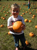 Claire picked out a great pumpkin.