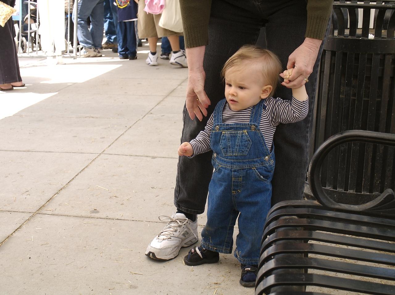 Cody and grandma jan go for a stroll.