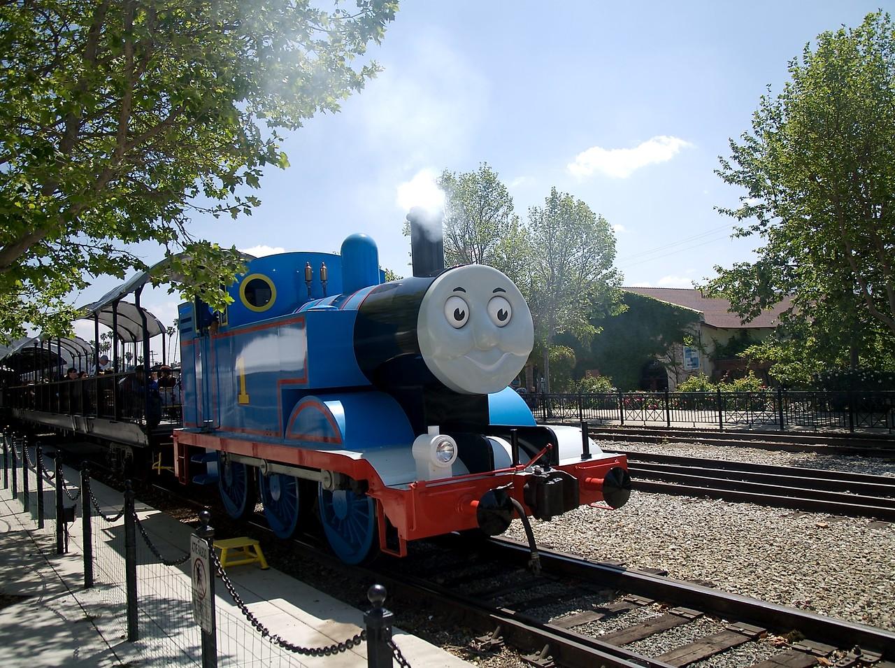 Thomas with smoke.