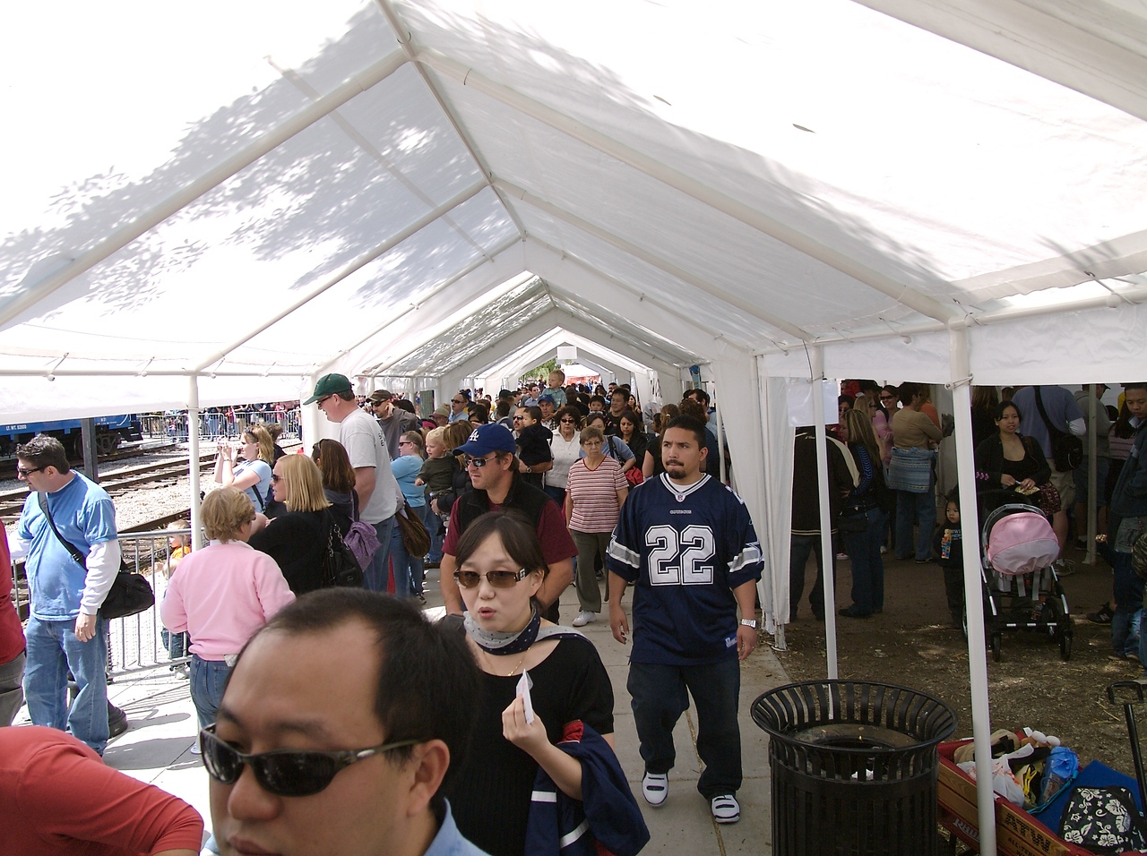 Here is the crowd that we had to walk through.