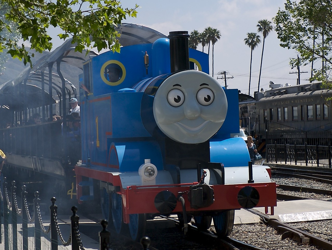 We didn't ride the train because Cody is too little and we could ride the train next year.