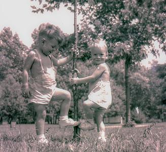 Boys Planting Tree