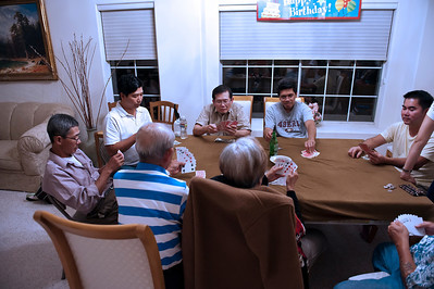 This is our tradition:  gambling whenever we get together!