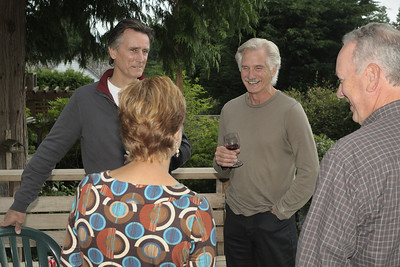 Kemp Edmonds and Rand Thomson chatting with Jeanette and Randy Brown