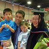 Tiffany's aunt Etty graduating from MIT with PhD in Engineering, June 2010.  In the picture : Cousin Gavin and Ingo with Uncle Dennis and Aunt Etty.