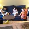 Tiffany reading story to Gavin and Ingo.