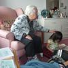 Visiting Great Grandma in Toronto.