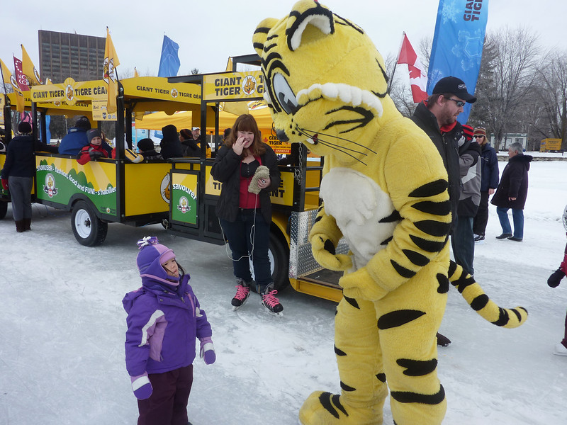 Tiffany and the Tiger.   Winter Carnival on Ottawa Dows Lake, Feb 2011.