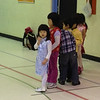Tiffany (front of the line) at her Saturday Chinese School.