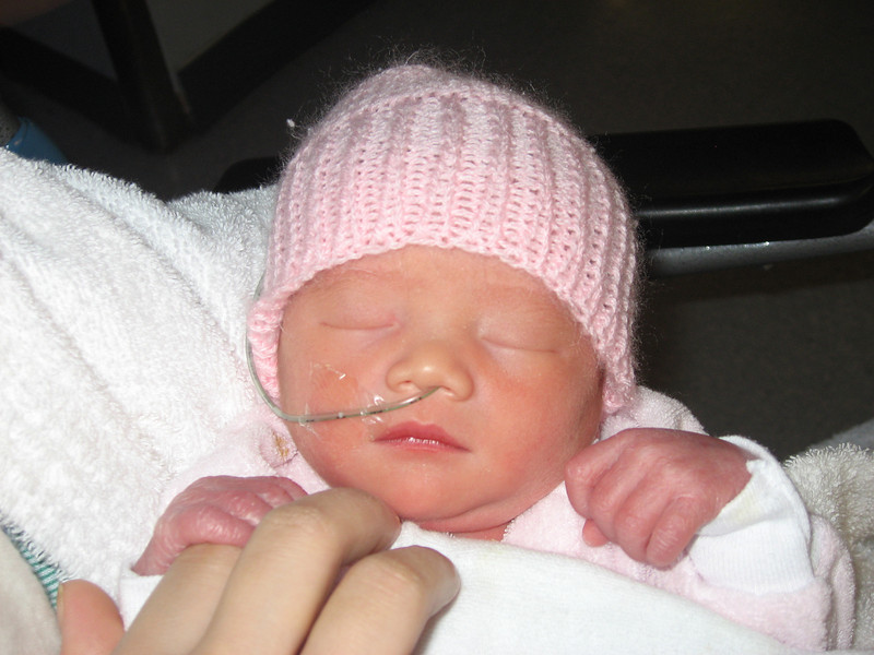 Dec 12, 2007 9AM - Tiffany is so tiny and cute!  She has Eugene's ears and Linh's nose.  She's very healthy for a premature baby.  After birth her sugar level was fine, and that's an important sign she's healthy.