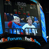 Preston and Macon make it on the jumbo tron!