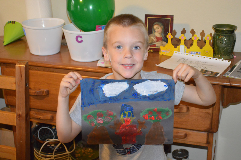 Cole with his masterpiece