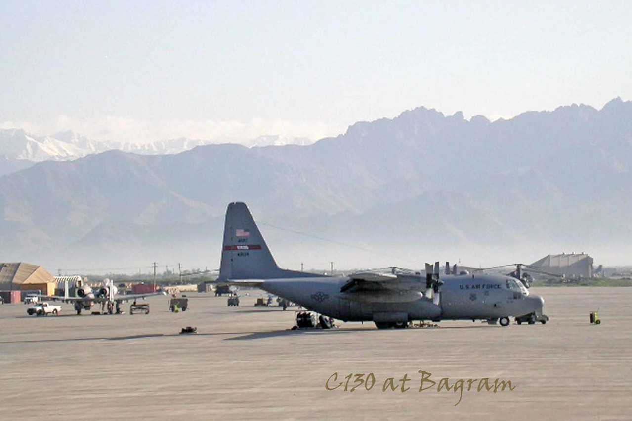 C130 at Bagram - April 2005