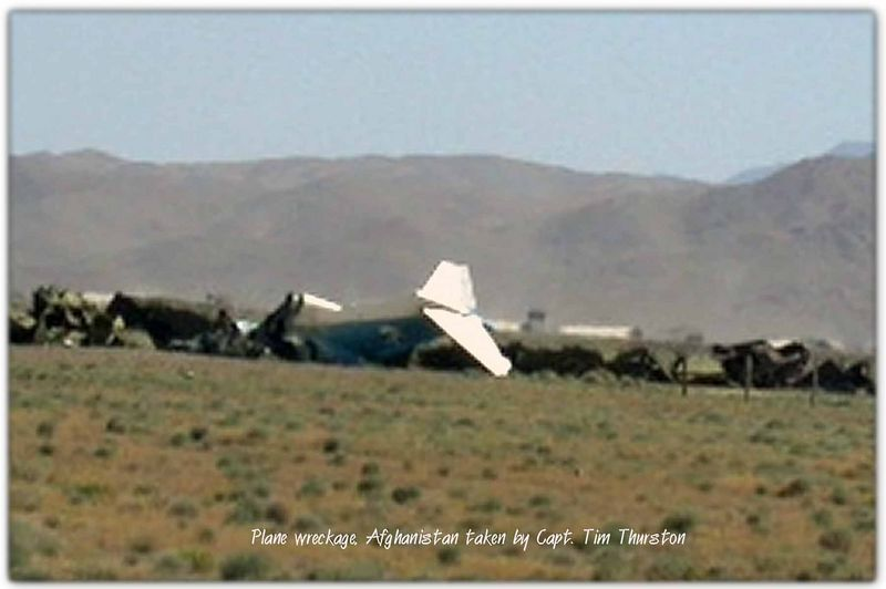 Plane wreckage, Russian, Afghanistan May 2005