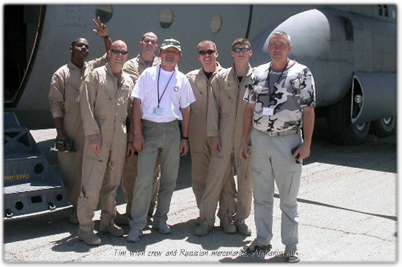 Tim with crew and Russian mercenaries May 2005