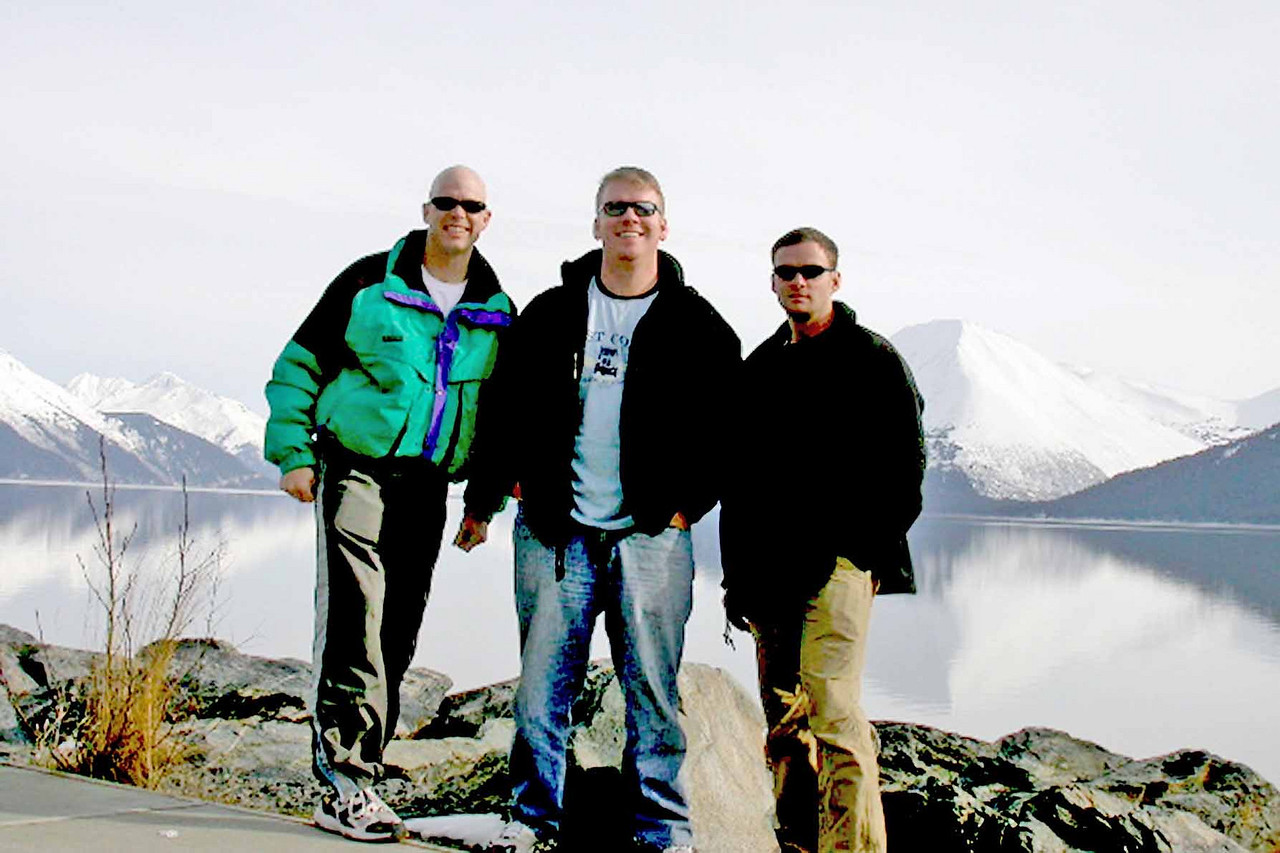 Tim stopped in Alaska for training on way to Afghanistan - April 2005